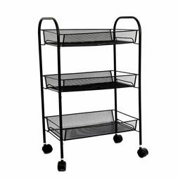 3 Tier Rolling Kitchen Cart Serving Home Furniture Utility B