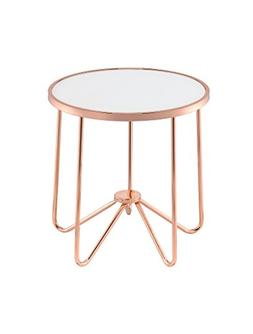 ACME Furniture Acme 81837 Alivia End Table, Frosted Glass &