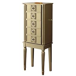 ACME Furniture 97169 Tammy Jewelry Armoire, Gold