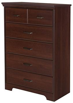 South Shore Versa Collection 5-Drawer Dresser, Royal Cherry