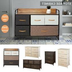 Chest of Fabric Drawers Dresser Furniture 3/4/5 Bins Bedroom