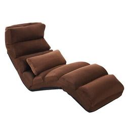 Costway Coffee Folding Lazy Sofa Chair Stylish Sofa Couch Be