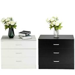 Dressers Chest of Drawers 3 Drawer Bedroom Storage Home Tabl