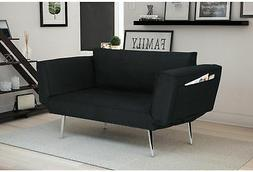 Futon Sofa Bed Sleeper Convertible Loveseat Couch Chair Blac