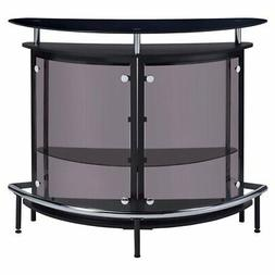 Coaster Furniture Glass Top Home Bar with Foot Rail