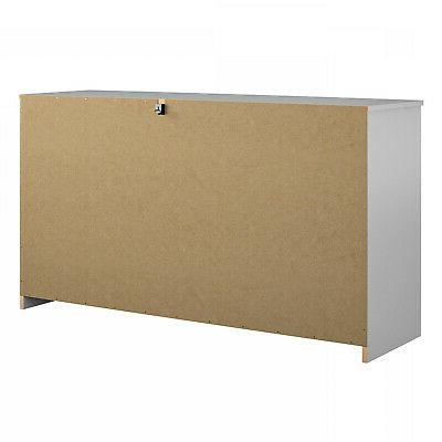 6-Drawer Organizer Bedroom Clothes White Finish