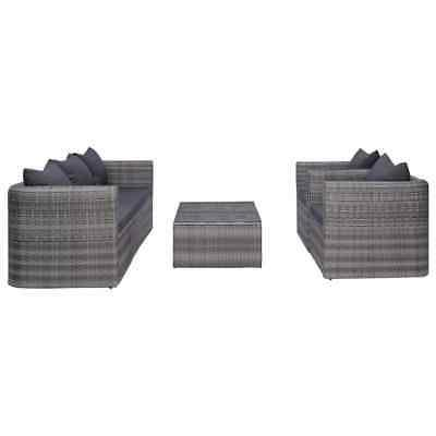 Furniture Set Patio Sectional Gray