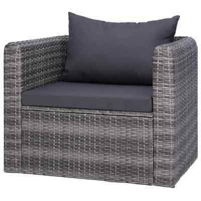 6 Piece Outdoor Patio Furniture Patio Sectional Gray