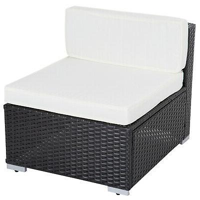 7PC Wicker Set Couch Furniture