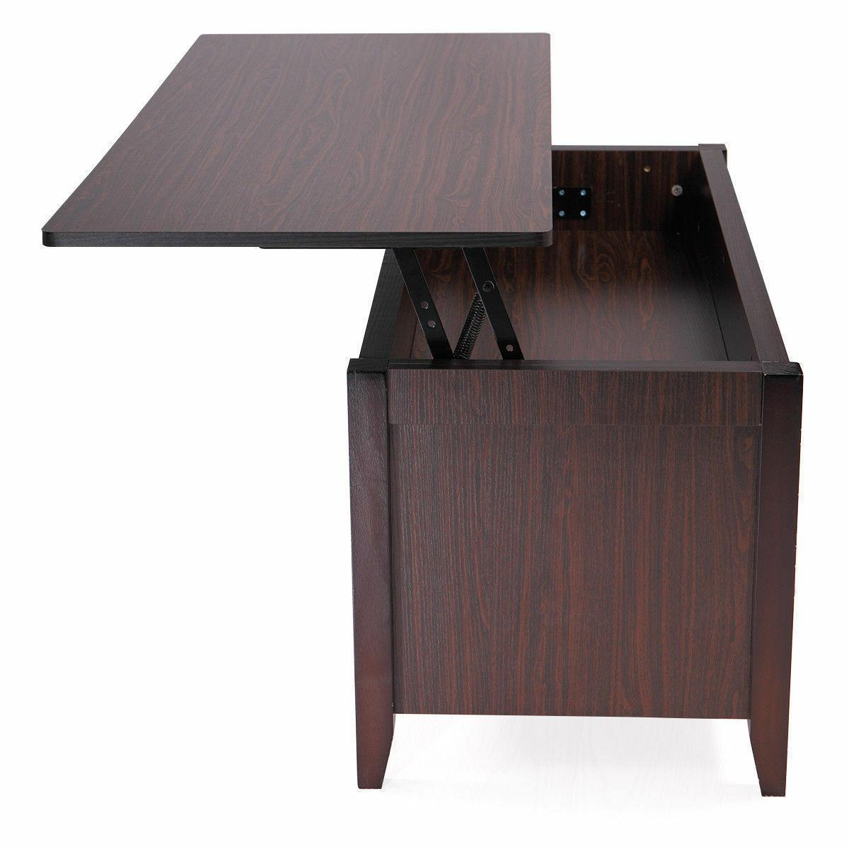 Lift Top Coffee w/Hidden Compartment and Shelves