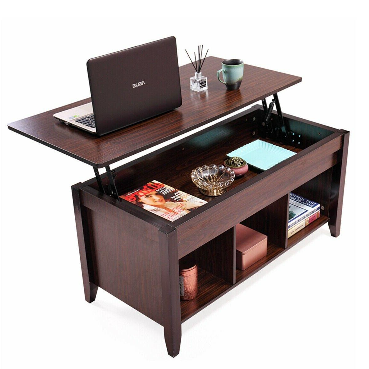 lift top coffee table w hidden compartment