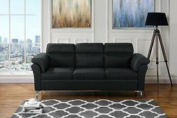 Modern Furniture Living Room Linen Fabric Sofa, 3 Seater Cou