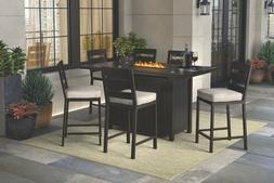 Ashley Furniture Perrymount 7-Piece Outdoor Bar Table Set