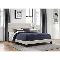 Hillsdale Furniture Platform Bed in One with Fog Fabric and