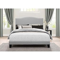Hillsdale Furniture Low Profile Platform Bed in One in Glaci