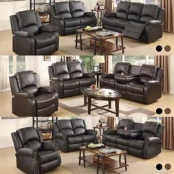 Recliner Leather Sofa Set Loveseat Couch 3+2+1 Seater Living