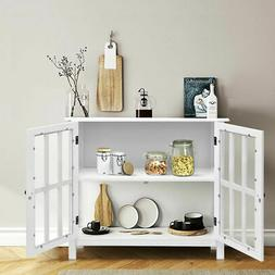 FCH Accent Sideboard Buffet Table Storage Cabinet w/ Shelves