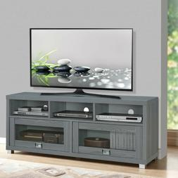 TV Stand 75 inch Flat Screen Entertainment Media Console Hom